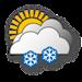 Wolkig, starker Schneefall