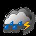 Bedeckt, Gewitter mit starken Schauern